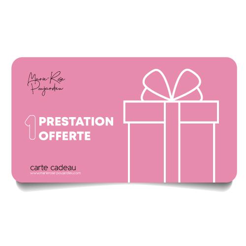 Carte Cadeau Détente 1 Prestation offerte Marie-Rose Poujardieu