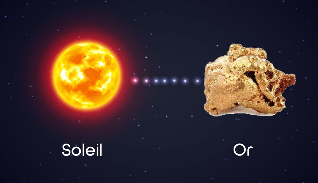 Le Soleil est notre étoile symbole de l'or